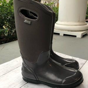 New Bogs Womens Classic Handle Gray Rainboots